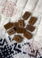 Пуговицы деревянные Прямоугольник коричневые