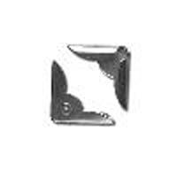 Уголки металлические серебристые 2