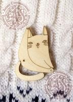 Заготовка для значка «Любимая поза кота»
