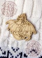 Заготовка для значка «Золотой дракон»