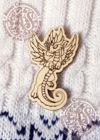 Заготовка для значка «Радужный дракон»