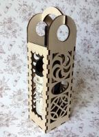 Короб-сумка для вина Ажурный с ручкой