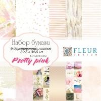 Набор бумаги «Pretty pink» средний