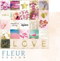Бумага для скрапбукинга «Надписи. Pretty pink»