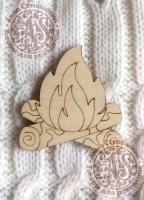 Заготовка деревянного значка «Огонь»
