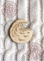 Заготовка деревянного значка «Волна»
