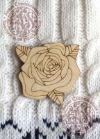 Заготовка деревянного значка «Роза»