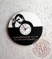 Часы деревянные «Высоцкий»