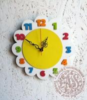 Часы деревянные «Ромашка»