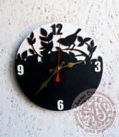 Часы деревянные «Птица»
