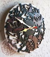 Часы деревянные «Цветы»