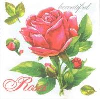 Салфетка для декупажа Красная роза