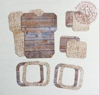 Высечки, конверты, рамочки для скрапбукинга №1