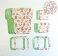 Высечки, конверты, рамочки для скрапбукинга №33