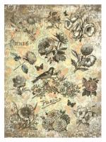 Карта для декупажа «Мелодичные цветы»