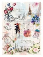 Карта для декупажа «Медовый месяц в Париже»