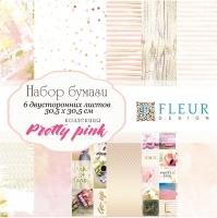Набор бумаги «Pretty pink» большой