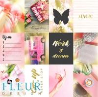 Набор карточек «Pretty pink» №1