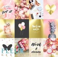 Набор карточек «Pretty pink» №2