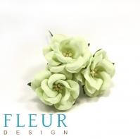 Цветы для скрапбукинга Дикая роза светло-зеленая