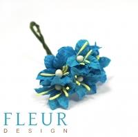 Цветы для скрапбукинга Мини лилии бирюзовые