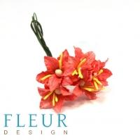 Цветы для скрапбукинга Мини лилии коралловые