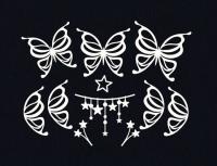 Чипборд Бабочки и звезды
