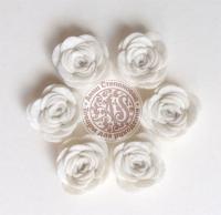 Цветы из фетра. Розы кремовые