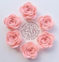 Цветы из фетра. Розы светло-розовые