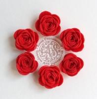 Цветы из фетра. Розы красные
