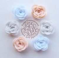 Цветы из фетра. Розы пастельные №1