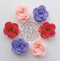 Цветы из фетра. Розы пастельные №2