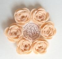 Цветы из фетра. Розы персиковые