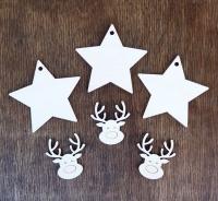 Подвеска звезда с оленем