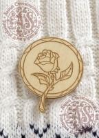 Заготовка «Витраж. Роза» значок