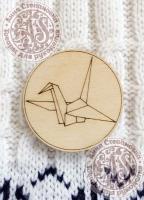 Заготовка «Бумажный журавлик» значок