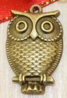 Подвеска «Большая сова» бронза