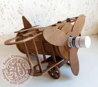 Мини-бар «Самолет» тонировка Орех под бутылку водки и 6 рюмок
