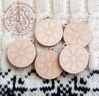 Декор деревянный «Мандаринки»