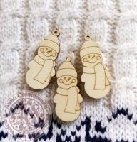 Декор деревянный «Снеговички»