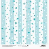 Бумага для скрапбукинга Голубые звезды