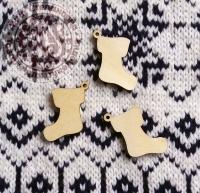 Декор деревянный «Рождественский носок»