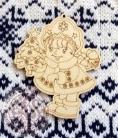 Деревянная игрушка Девочка-снегурочка