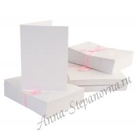 Набор заготовок для изготовления открыток Белые