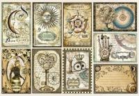 Бумага рисовая для декупажа «Астрономия. Карточки»