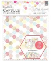 Набор открыток с конвертами «Geometric Neon»