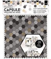 Набор открыток с конвертами «Geometric Mono»
