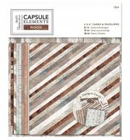 Набор открыток с конвертами «Elements Wood»