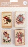 Декоративные коробочки Рождественское ретро