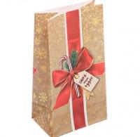 Пакет подарочный маленький Зима - пора чудес